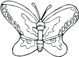 Simple Butterfly Coloring Sheets Free Simple Butterfly G Pages For