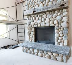 Cool Diy River Rock Fireplace 16 In Decoration Ideas with Diy River Rock  Fireplace