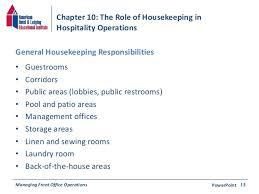 operations powerpoint 12 14 housekeeping job duties