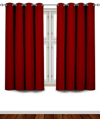 com utopia bedding grommet top thermal insulated blackout curtains 2 panels 52 x 63 inch burdy home kitchen