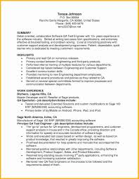Resume Cv Qa Resume Sample Qa Resume Sample Elegant Entry Level Qa
