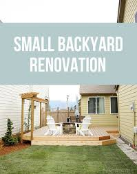 A Small Backyard Renovation And Deck Addition Blogger Home Extraordinary Small Backyard Decks Patios Remodelling