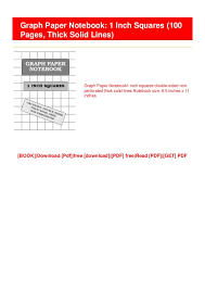 Pdf Download Ebook Free Graph Paper Notebook 1 Inch Squares