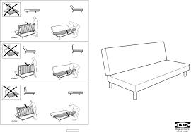 Ikea Instruction Manuals Ikea Chairs Beddinge Sofabed Frame Pdf Assembly Instruction Free