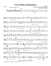 gethsemane sheet music download go to dark gethsemane cello sheet music by mark hill