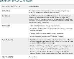 System Analysis And Design Case Study Answers Case Study On Bank Of America How Robots Help Serve And