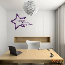 office wall stickers. Trend Teamwork Makes The Dream Work Office Wall Decal Stickers