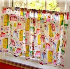 vintage kitchen curtains for beautiful retro ideas cafe chea