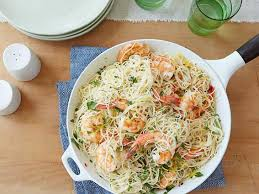 gina s shrimp scampi with angel hair pasta