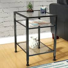 metal and glass end tables silver metal glass dining table