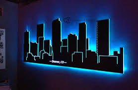 exclusive inspiration led wall art elegant design led lighted denver skyline co home decor uk canvas diy on led wall art home decor with exclusive inspiration led wall art elegant design led lighted denver