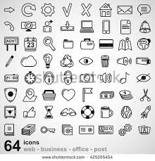 post business office. Set Of Universal Icons For Web Business Office And Post. Vector Illustration Post