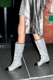chanel glitter boots. chanel glitter boots s