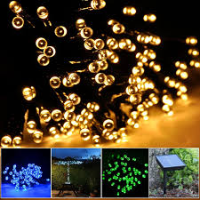 solar fairy string lights for outdoor gardens homes party waterproof warm white zoom