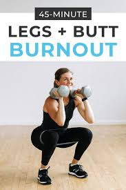45 minute dumbbell leg workout drop