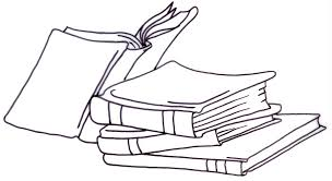 book clipart balck white stack of books clipart 8