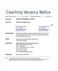 Football Coaching Resume Template Coaching Resume Templates Magdalene Project Org