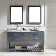 Bathroom double sink cabinets Clearance Rishaan 61 Curlingchampionstourcom Modern Double Vanities Allmodern