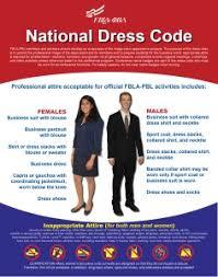 Fbla Pbl Dress Code Fbla Pbl