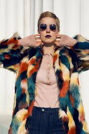 fur coat boho chic