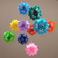 Paper Flower Mobiles Baby Mobile Rainbow Starburst Paper Flower Balls Decoration