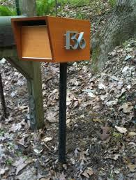 cool mailbox. Cool-mailboxes-Spaces-Midcentury-with-modern-mailbox- Cool Mailbox