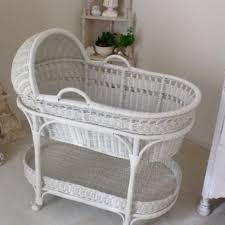 Find more Pottery Barn White Wicker Bassinet for sale at up to 90% off