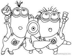 Small Picture minion printable coloring pages Archives coloring page