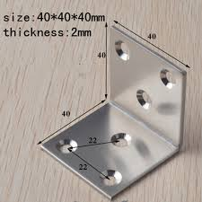 quartet furniture. 40mm stainless steel quartet corner furniture hardware accessories right angle connecting piece iron stand fastener 10pcs