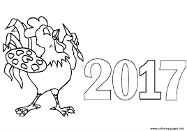 Small Picture 2017 Happy new year Coloring pages Printable