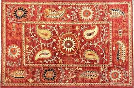 suzani rug red forest area