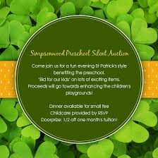 Auction Invitations Simpsonwood Preschool Silent Auction Online Invitations Cards By