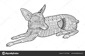 Leuke Kleuren Pagina Hond Van Het Ras Chihuahua Stockvector