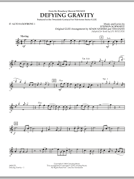 defying gravity sheet music defying gravity from wicked eb alto saxophone 1 sheet music at