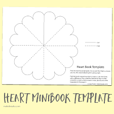 small book template heart minibook template crafts pinterest free printable and crafts