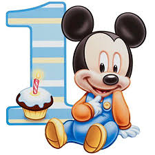 12 Sheet Baby Mickey Mouse 1 Year Old Edible Frosting Image Cake