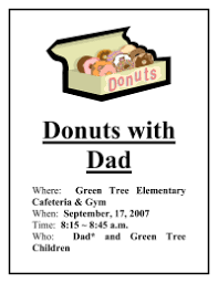 Pta Elections Flyer Donuts With Dad Flyer Pto Today