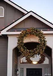 Outdoor Lighted Wreath Awesome How To Hang A Giant Outdoor Christmas Wreath Ella Claire