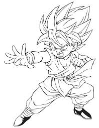 free dragon ball z coloring pages for kids
