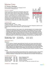 Sample It Project Manager Resumes It Project Manager Cv Template Project Management Prince2