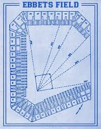 Ebbets Field Seating Chart Print Of Vintage Ebbets Field Seating Chart On Photo Paper Matte Paper Or Canvas
