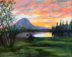 saatchi art artist aet paaro painting purple mountain sunset art