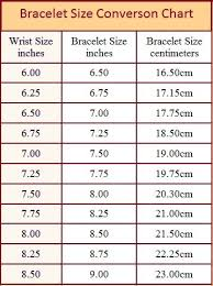 Bracelet Size Chart And How To Measure Bracelet Size