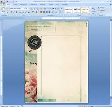 Background Templates For Word Letterhead Template In Microsoft Word Desain