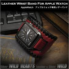 genuine leather watch strap bracelet wrist band for apple watch series 1 2 3 4 38 40mm 42 44mm wild hearts id aw3691r9
