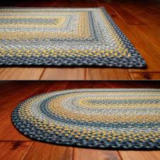 french countryside kitchen decoration cotton braided rugs bright yellow flowers splashed across blue sky color rug