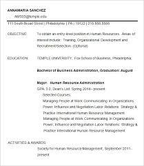 Fox School Of Business Resume Template Temple Resume Template 5 14