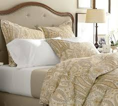 blythe paisley organic sateen duvet cover sham neutral pottery barn