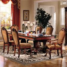 dining room tables with upholstered chairs. chateau de ville 7 piece formal dining set with fabric upholstered chairs room tables i