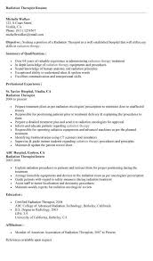 Radiation Therapy Resume Templates